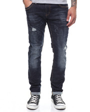 Jeans - INDIGO STRETCH JEAN WITH TIC AND BLAST TREATMENT