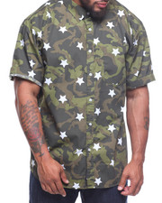 Flysociety - S/S All Over Camo/Stars Woven (B&T)-2208012