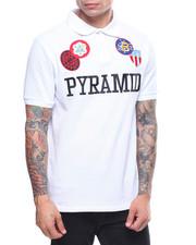 Polos - Pyramid Checker Patch Polo Shirt