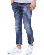 Jeans - WORN OUT INDIGO STRETCH JEAN