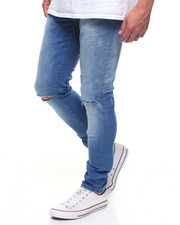 Jeans - DESTROYED BLUE SUPER STRETCH JEAN