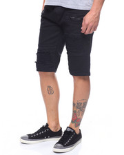 Shorts - BLOWN OUT TWILL MOTO SHORT