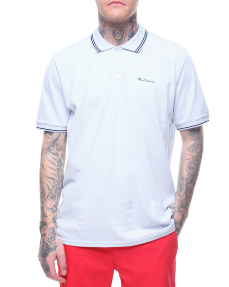 a04a02c51bc257 Buy SCRIPT TIPPED PIQUE POLO Men's Shirts from Ben Sherman. Find Ben ...