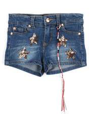 Shorts - Hipster Short w/Star Patches (4-6X)-2209200