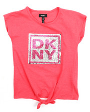 Tops - DKNY Stack Tie Front Top (7-16)