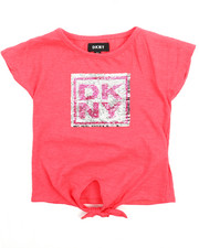 Sizes 2T-4T - Toddler - DKNY Stack Tie Front Top(2T-4T)