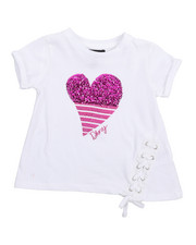 Sizes 2T-4T - Toddler - DK Heart Lace Up Top (2T-4T)