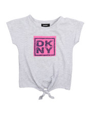 Fashion Tops - DKNY Stack Tie Front Top (4-6X)-2209409