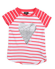 Girls - Stripe Sequin Tee (7-16)