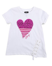 Tops - DK Heart Lace Up Top (7-16)