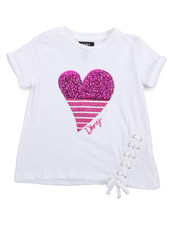Tops - DK Heart Lace Up Top (4-6X)-2209339