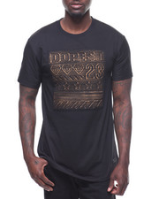 T-Shirts - DOPEST GOLD BRUSHED EMBOSSED TEE