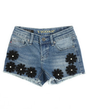 Girls - Black Daisy Short (7-16)