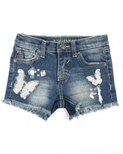 Girls - White Butterflies Short (4-6X)