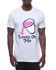 Men - LEAN ON ME SYRUP LEGO DECAL TEE