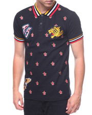 Polos - ALL OVER FLOWER AND PATCH POLO