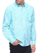 Trunks - L/S Island Floral Linen Rollup Sleeve Shirt-2211652