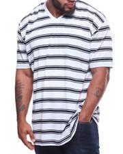 Short-Sleeve - S/S V-Neck 2 Tone Stripe Tee (B&T)-2211153