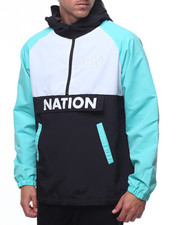Light Jackets - NATION ANORACK PULLOVER-2211643