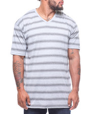 Buyers Picks - S/S V-Neck 2 Tone Stripe Tee (B&T)-2211145