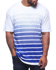 Big & Tall - S/S Crew Neck Stripe Tees (B&T)-2211117
