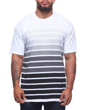 Big & Tall - S/S Crew Neck Stripe Tees (B&T)-2211113