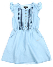 Dresses - Denim Dress w/Embroidery (7-16)-2210519