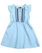 Dresses - Denim Dress w/Embroidery (4-6X)