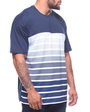 T-Shirts - S/S Crew Neck Stripe Tees (B&T)-2211121