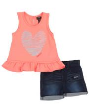 DKNY Jeans - Foil Heart 2 Piece Short Set (2T-4T)-2210575