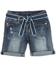 Bottoms - Belted Destructed Bermuda Short (7-16)-2210962