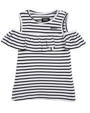 Tops - Stripe Ruffle Top (4-6X)-2209875