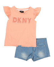 Sizes 4-6x - Kids - DK Flutter Sleeve 2 Piece Short Set (4-6X)-2211162