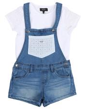DKNY Jeans - Crochet Tee & Shortalls Set (7-16)-2210176