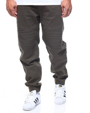 Phat Farm - Dark Olive Stretch Wash Twill Moto Jogger (B&T)-2211734