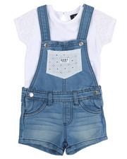 DKNY Jeans - Crochet Tee & Shortalls Set (2T-4T)-2210131