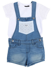 Sizes 4-6x - Kids - Crochet Tee & Shortalls Set (4-6X)-2210171