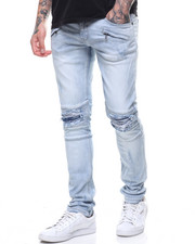 Spring-Summer-M - LIGHT BLUE RIP AND REPAIR JEAN