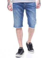Global Movement Mens - RICKY FLAP  Denim SHORT SINGLE END-2212080