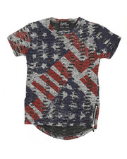 Boys - Flag Crew Neck Tee w/Zipper (4-7)-2211511