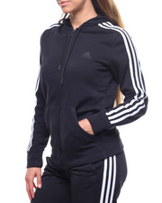 Adidas - Essentials 3 Stripes Fleece Full Zip Hoodie-2213421