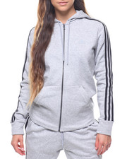 Adidas - Essentials 3 Stripes Fleece Full Zip Hoodie-2213428
