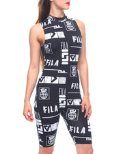 Jumpsuits - Vera Printed Sleeveless Unitard-2213488