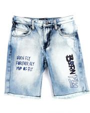 Born Fly - Live Fly Washed Denim Shorts (8-20)
