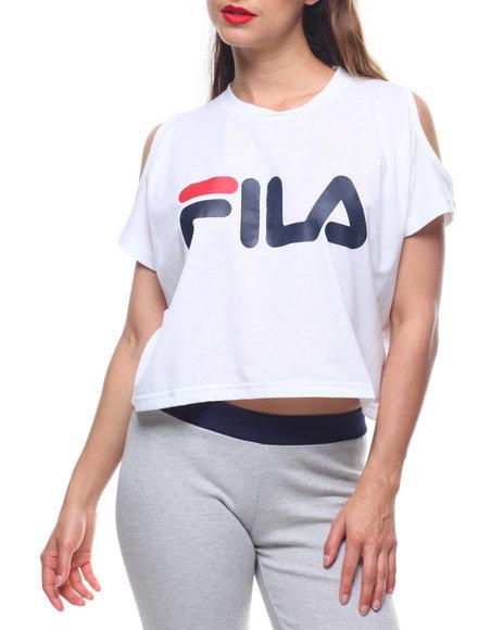 264c38fc3f3ec7 Buy Nikki Cold Shoulder Crop Top Women s Tops from Fila. Find Fila ...