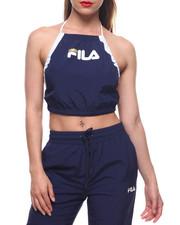 Fila - Mina Crinkled Taslon Halter Tank