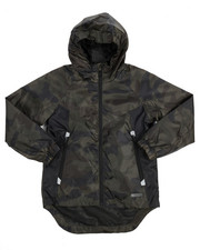 Light Jackets - Camo Rainshell Full Zip Jacket (8-20)