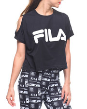 Fila - Nikki Cold Shoulder Crop Top