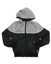 Light Jackets - Color Block Zip Up Rainshell Jacket (8-20)
