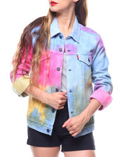 Outerwear - Tie Dye Trucker Jacket